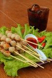 Meatballsteknålar Arkivbild