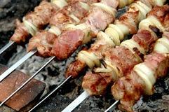Meatgrillfest Sallad i en restaurang Royaltyfri Fotografi