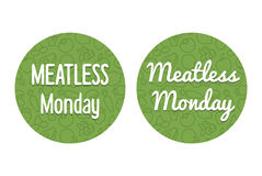 Meatless Monday Banner Royalty Free Stock Photos