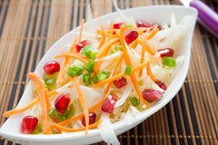 Meatless salad with fresh cabbage Royalty Free Stock Photo