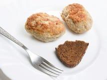 meatloaf δικράνων ψωμιού πιάτο Στοκ φωτογραφία με δικαίωμα ελεύθερης χρήσης