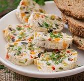 Meatloaf κοτόπουλου σάντουιτς με τα λαχανικά Στοκ Φωτογραφίες
