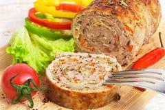 Meatloaf με τα λαχανικά Στοκ εικόνα με δικαίωμα ελεύθερης χρήσης