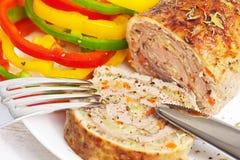 Meatloaf με τα λαχανικά Στοκ Φωτογραφίες