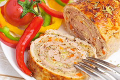 Meatloaf με τα λαχανικά Στοκ φωτογραφία με δικαίωμα ελεύθερης χρήσης