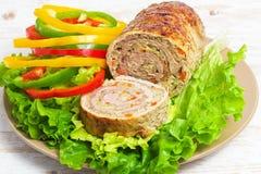 Meatloaf με τα λαχανικά Στοκ Εικόνα
