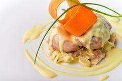 Meatloaf με την άσπρη σάλτσα Στοκ Φωτογραφίες