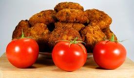 Meatloaf με τις ντομάτες Στοκ Φωτογραφίες