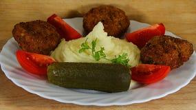 Meatloaf με τον πουρέ πατατών Στοκ εικόνα με δικαίωμα ελεύθερης χρήσης