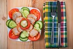 meatloaf τεμαχίζει τα λαχανικά Στοκ Εικόνα