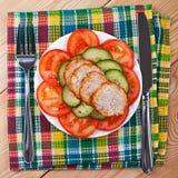 meatloaf τεμαχίζει τα λαχανικά Στοκ Εικόνες