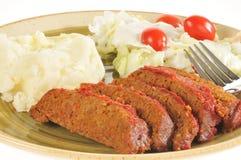 meatloaf обеда крупного плана стоковое фото rf