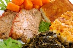 Meatloaf. Southern meatloaf with veggie sides Stock Images