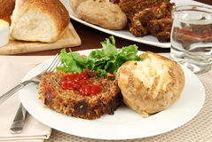 Meatloaf and baked potato Stock Image