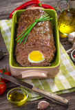 Meatloaf with boiled eggs Royalty Free Stock Photos