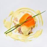Meatloaf com molho branco Fotografia de Stock