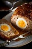 Meatloaf com ovo para dentro fotografia de stock royalty free