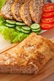 Meatloaf, cucumber, lettuce, Stock Photos