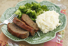Meatloaf Dinner Stock Photography