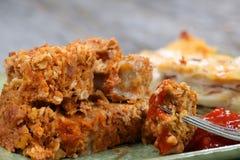 Meatloaf e batatas Fotografia de Stock Royalty Free