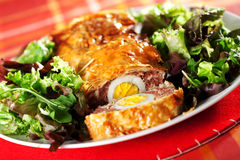 Meatloaf with eggs Stock Image