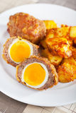 Meatloaf with eggs Stock Photo