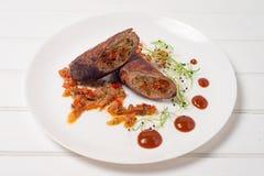 Meatloaf em uma placa Imagens de Stock Royalty Free