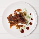 Meatloaf em uma placa Imagens de Stock