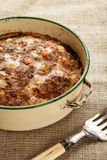 Meatloaf. Fresh from the oven in a circle tin Royalty Free Stock Photo