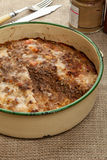 Meatloaf. Fresh from the oven in a circle tin Royalty Free Stock Image