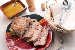 Meatloaf with garlic gravy Royalty Free Stock Image