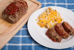 Meatloaf and Hash Browns Stock Images