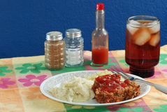 Meatloaf and Hot Sauce Royalty Free Stock Photos