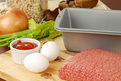 Meatloaf ingredients Royalty Free Stock Photos