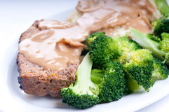 Meatloaf with mashed potatoes Royalty Free Stock Images