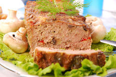 Meatloaf with mushrooms and paprika Stock Images