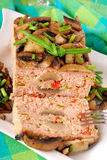 Meatloaf with mushrooms and pepper Royalty Free Stock Images
