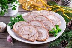 meatloaf Nowego roku ` s zakąska zdjęcie royalty free