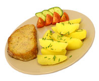 Meatloaf and potatoes Stock Images