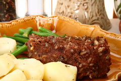 Meatloaf and Potatoes Royalty Free Stock Photography