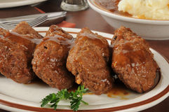 Meatloaf and potatoes Royalty Free Stock Image