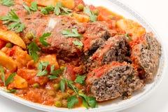 Meatloaf pronto para servir Fotos de Stock Royalty Free