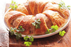 Meatloaf ring baked in pastry Royalty Free Stock Image