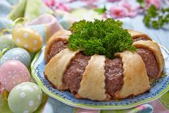 Meatloaf ring Stock Photos