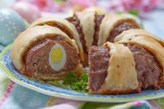 Meatloaf ring Royalty Free Stock Images