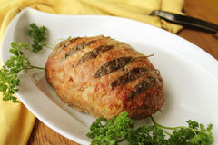 Meatloaf with sage Royalty Free Stock Photos