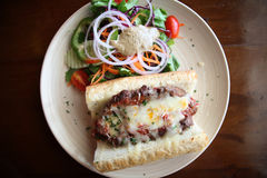 Meatloaf sandwich Royalty Free Stock Photos