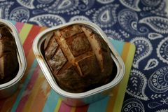 Meatloaf. Some grilled meatloaf of pork meat with cheese Royalty Free Stock Photos