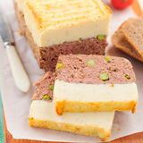 Meatloaf Topped with Cheesy Mashed Potato Royalty Free Stock Photos