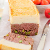Meatloaf Topped with Cheesy Mashed Potato Stock Images